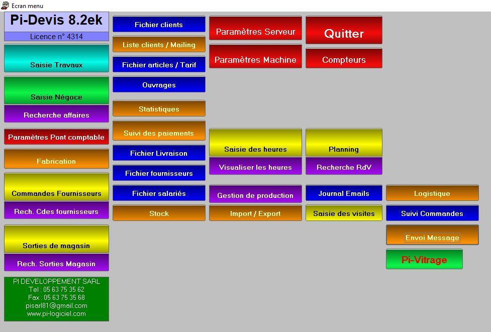 Logiciel de gestion commerciale miroiterie menuiserie